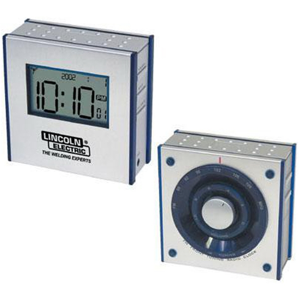 Dual Panel Fm Clock Radio With Large Lcd Display Photo