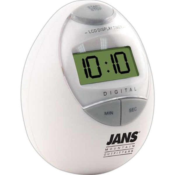 Digital Egg Shaped Kitchen Timer Photo