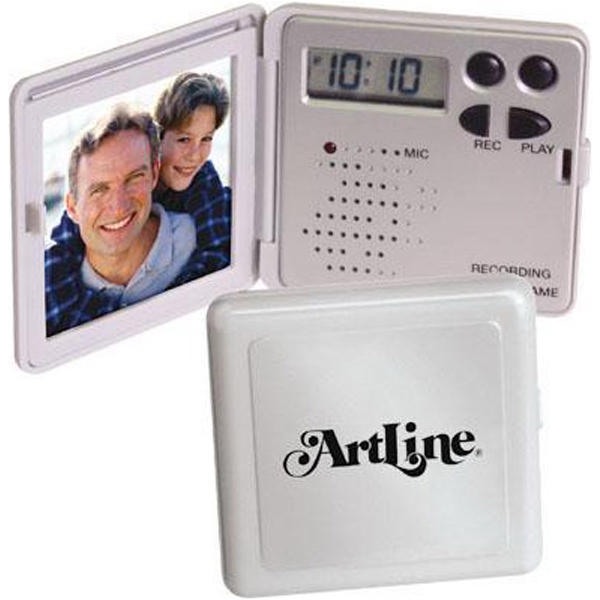 Mini Recording/talking Photo Frame With Clock Photo