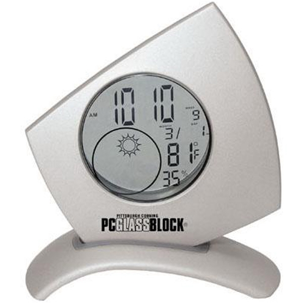 Die Cast Transparent Weather Station Clock With Light Photo