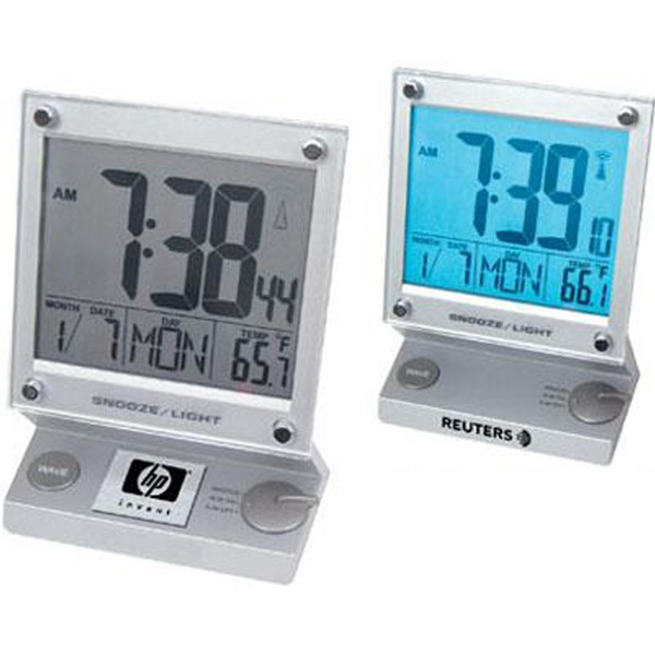 Touch-screen Jumbo Lcd Radio-controlled Alarm Clock With Thermometer Photo