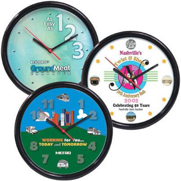 "Quartz Movement High Visibility Wall Clock Includes One Aa Battery, 10"" Diameter Photo"