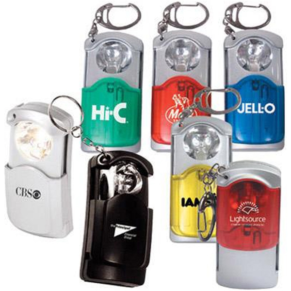 Compact Pocket Size Flashlight With Key Ring Photo