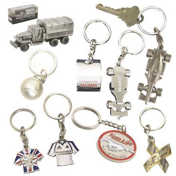 "3"" - Die-cast Key Chain With Split Ring Photo"