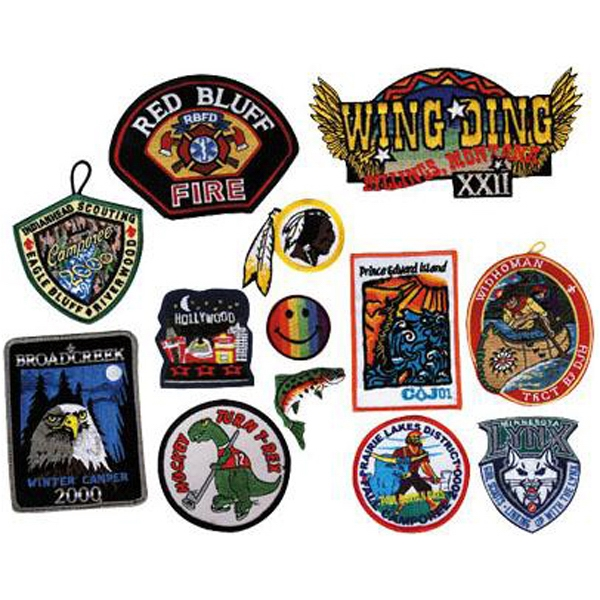 "50% Coverage - 4"" - Embroidered Patches And Appliques Photo"
