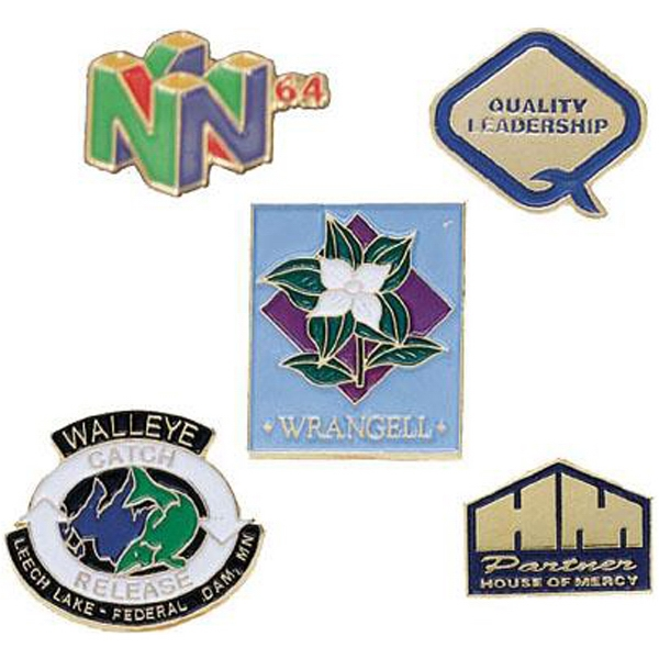 "7/8"" - Soft Enamel Cloisonne Lapel Pin With A Military Clutch Back Photo"