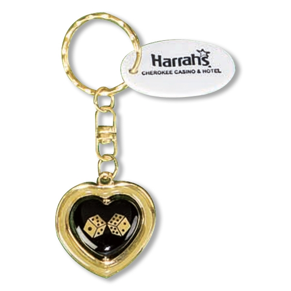 Metal Casino Heart Keychain Photo