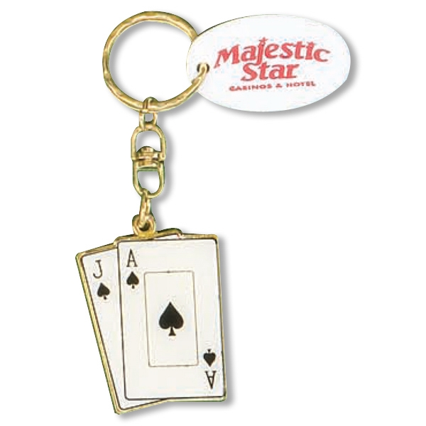 Metal Black Jack Keychain Photo