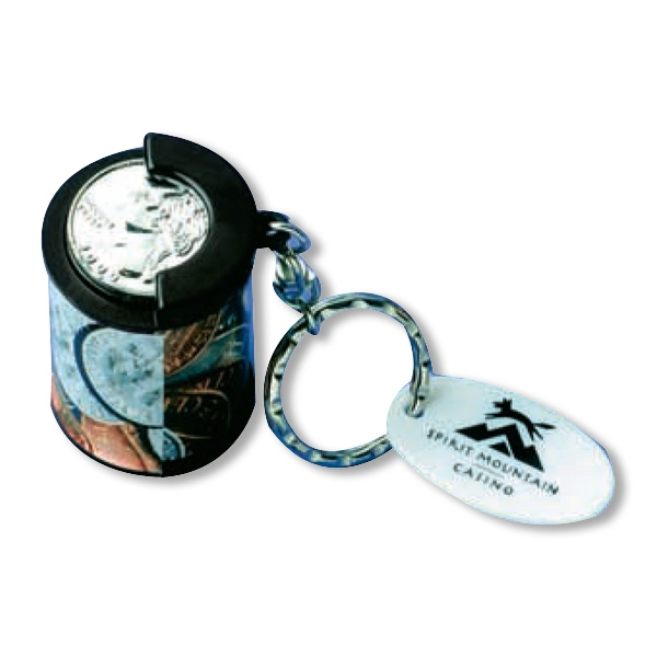 Coin Holder Key Chain, Holds Up To $4.50 In Quarters Photo