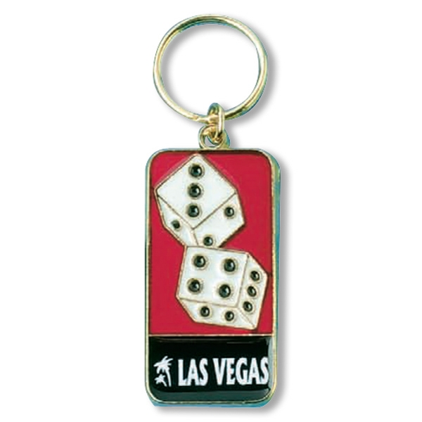 Zinc Aluminum Die Cast Dice Keytag Photo