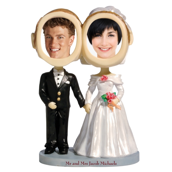 Couple Bobble Head (bride & Groom) Photo