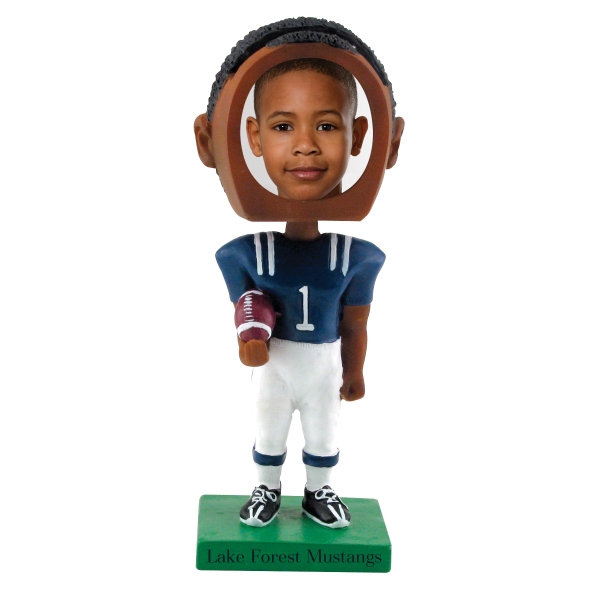 Dark Skin Tone Single Bobble Head (football) Photo