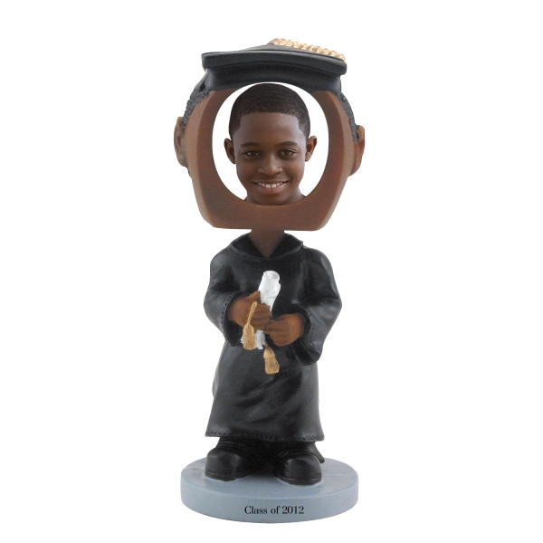 Dark Skin Tone Single Bobble Head (graduate) Photo