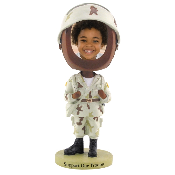 Dark Skin Tone Single Bobble Head (soldier) Photo