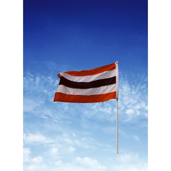 Sewn USA Patriotic Flat with Stars - 3' x 8' Cotton