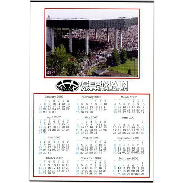 "Custom Color 18"" X 27"", 100 Lb. Gloss Enamel, Year On A Page Wall Calendar Photo"