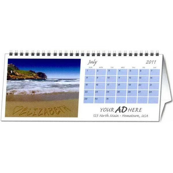 In The Image - Both Sides Printed - Personalized Horizontal Desk Calendar Photo