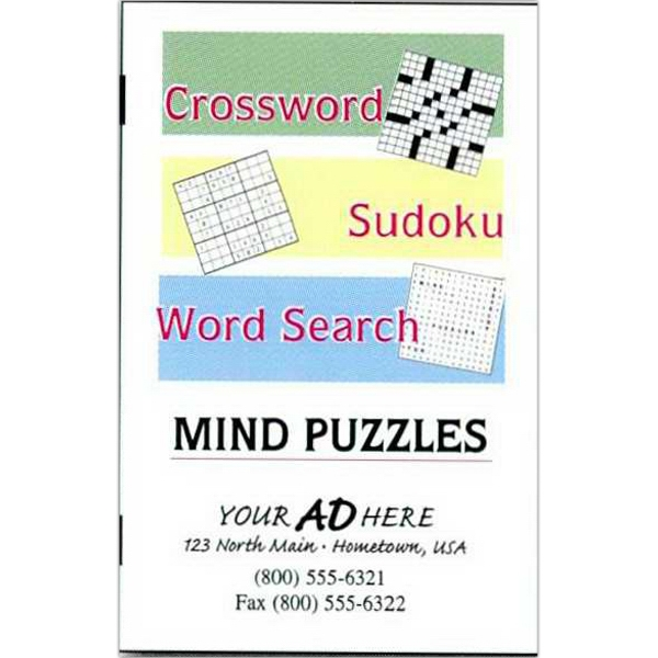 Combination Puzzle Book (crossword, Sudoku, Word Search) Photo
