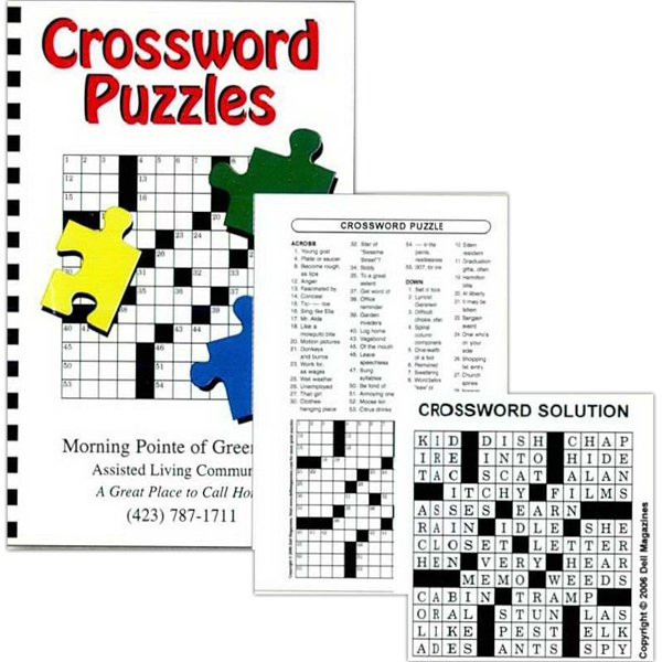Puzzle Book With 50 Crossword Puzzles And Solutions In The Back Photo