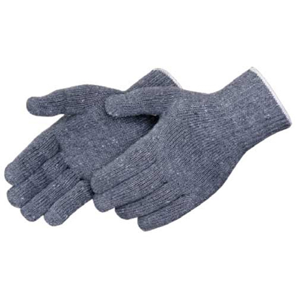 Gray - Cotton/polyester Blend Work Gloves With Shirred Elastic Back, Blank Photo