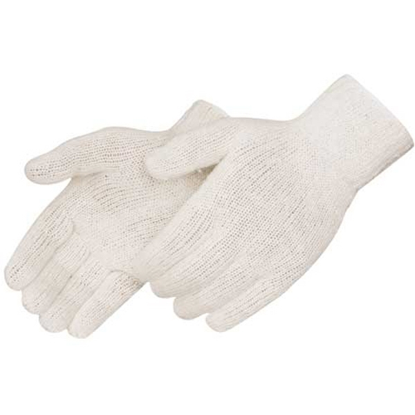 Natural - Cotton/polyester Blend Work Gloves With Shirred Elastic Back, Blank Photo