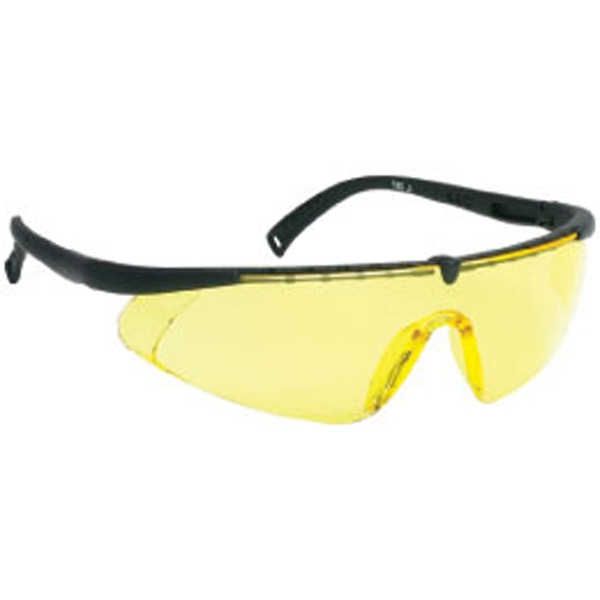 Amber Lens - Black - Single-piece Lens Safety Glasses Photo
