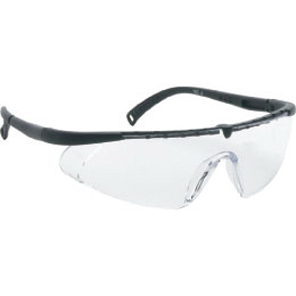 Clear Lens - Black - Single-piece Lens Safety Glasses Photo