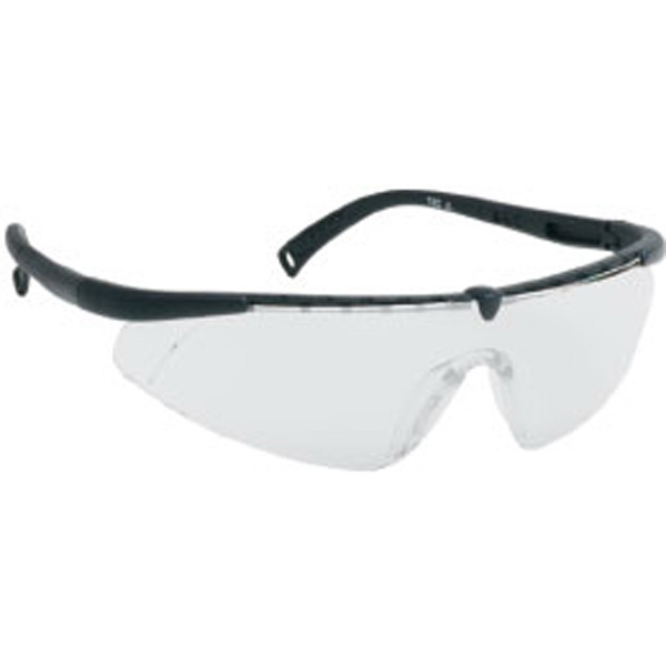 Silver Mirror Lens - Black - Single-piece Lens Safety Glasses Photo