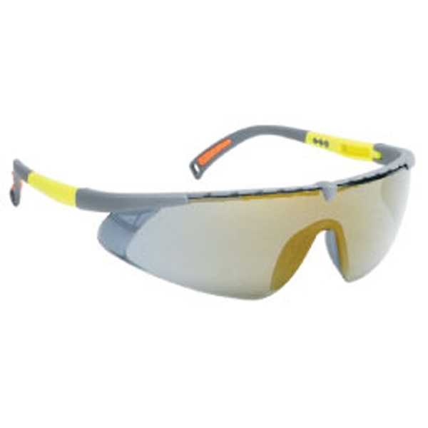 Gold Mirror Lens - Gray - Single-piece Lens Safety Glasses Photo
