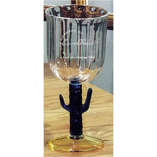 Cactus stemmed water goblet