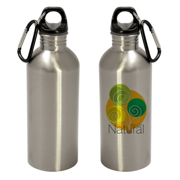600ml Stainless Steel Bottle - Flat Bottom - Silver Photo