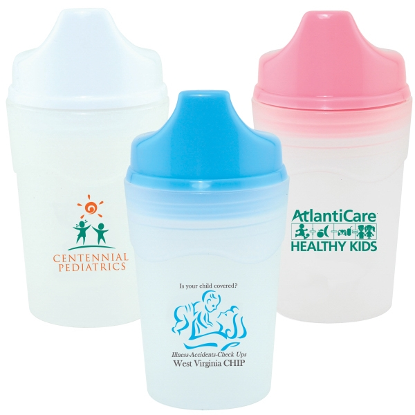 5 Oz. Non Spill Baby Cup With Colored Screw-on Lid Photo