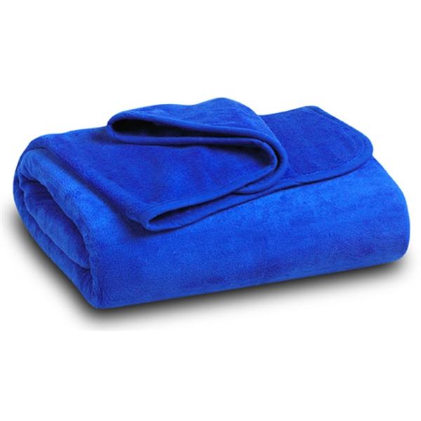 Royal Blue Coral Fleece Blanket
