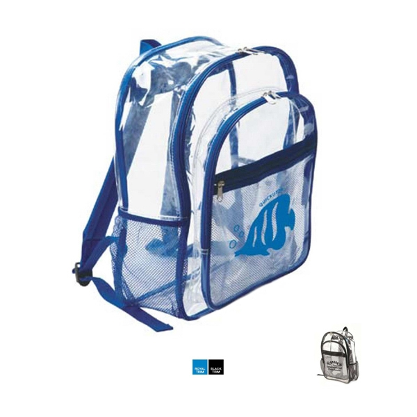 The clear backpack