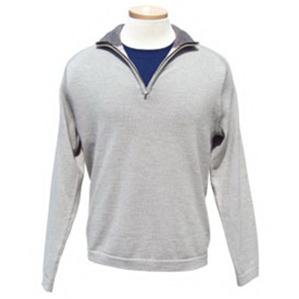 Calvin Klein Men's Merino Wool Zipper Pullover Shirt S-xxx-l