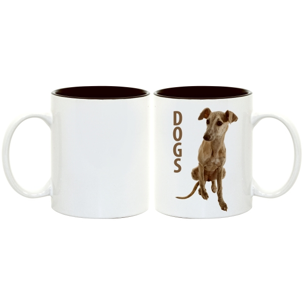 Black - This Two-tone Accented Mug Enhances Full-color Sublimation Decoration Beautifully! Photo