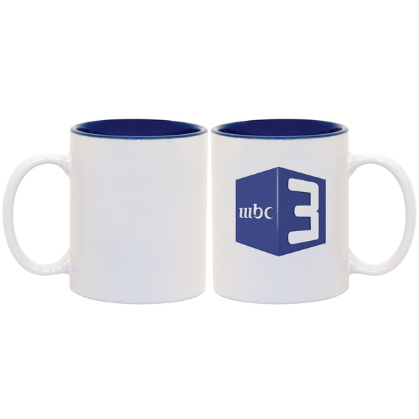 Blue - This Two-tone Accented Mug Enhances Full-color Sublimation Decoration Beautifully! Photo