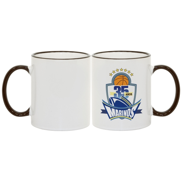 Black - Match Images And Themes To This Sublimation Rim And Handle Colored Ceramic Mug! Photo