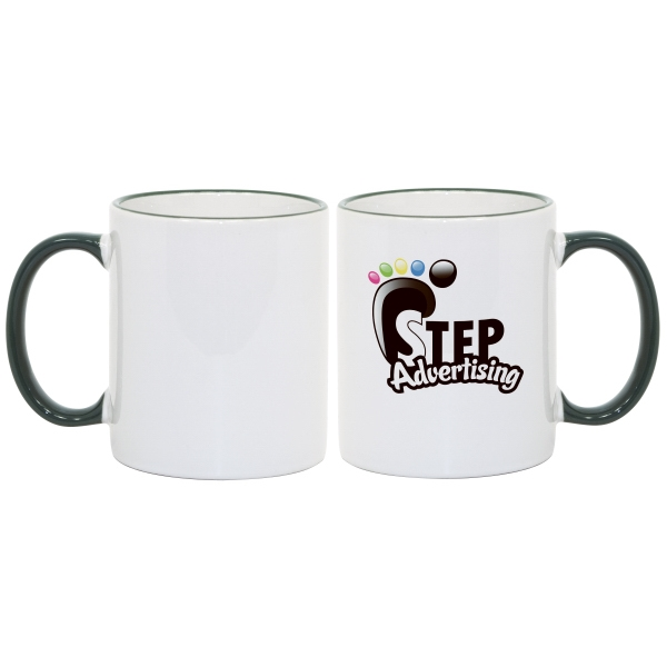 Green - Match Images And Themes To This Sublimation Rim And Handle Colored Ceramic Mug! Photo