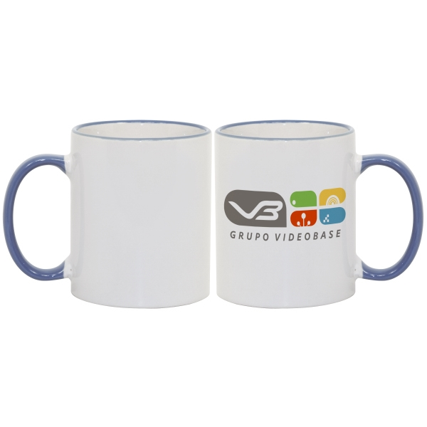 Cambridge Blue - Match Images And Themes To This Sublimation Rim And Handle Colored Ceramic Mug! Photo