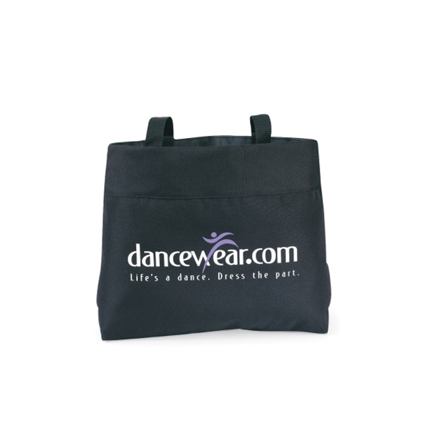 "Black - Tote Bag With 28"" Shoulder Straps Photo"