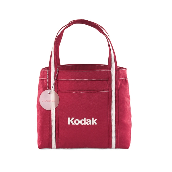 Piccolo - Ruby Red - Mini Tote Bag With Front Pocket Photo