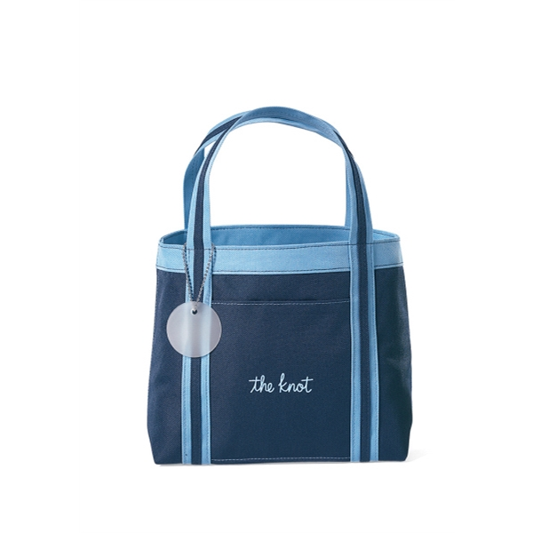 Piccolo - Navy Blue - Mini Tote Bag With Front Pocket Photo