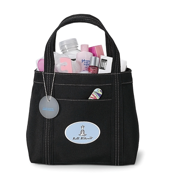 Piccolo - Black - Mini Tote Bag With Front Pocket Photo