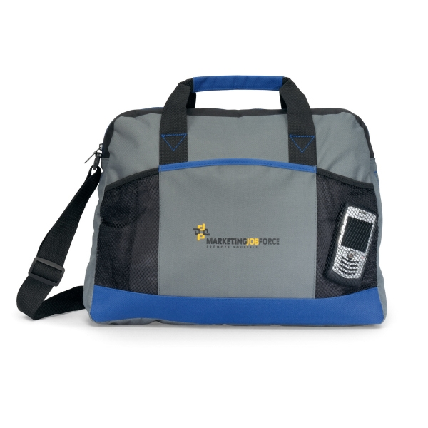 Essential - Royal Blue - Business Portfolio With Front Mesh Pocket And Adjustable Shoulder Strap Photo
