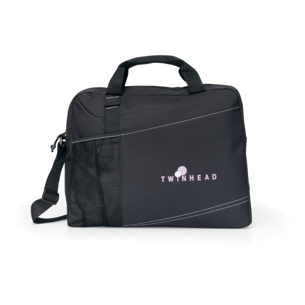 Velocity - Black - Portfolio With Adjustable Shoulder Strap And Top Grab Handles Photo
