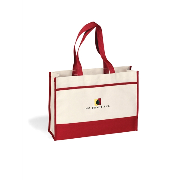Contemporary - Ruby Red - Tote Bag With Large Main Compartment With Snap Closure Photo