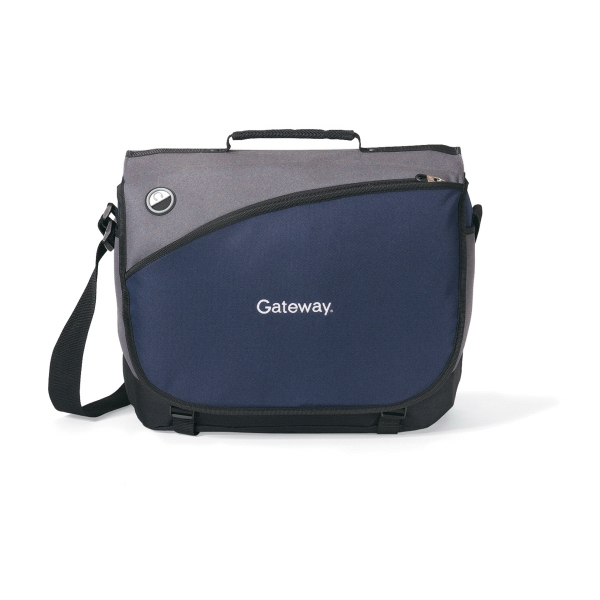 Freestyle - Navy Blue - Computer Messenger Bag With Padded Shoulder Strap Photo