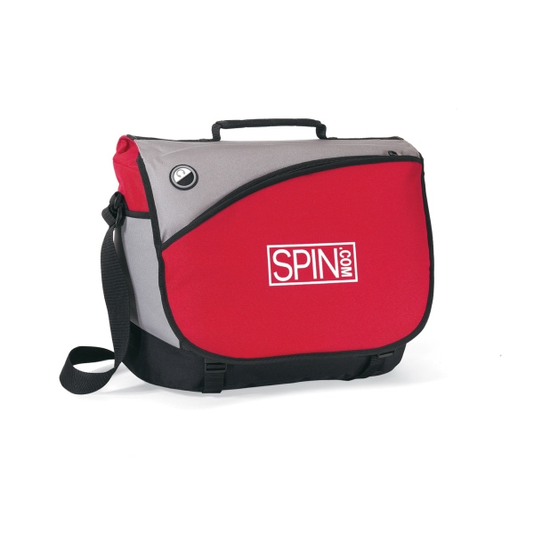 Freestyle - Red - Computer Messenger Bag With Padded Shoulder Strap Photo