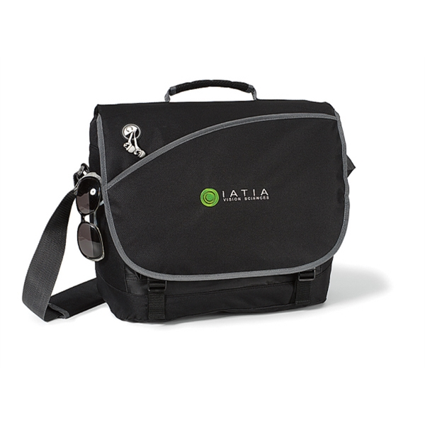 Freestyle - Black - Computer Messenger Bag With Padded Shoulder Strap Photo